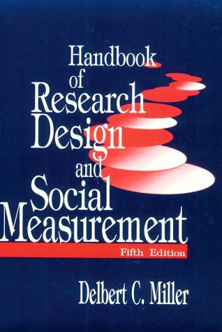 9780803942202: Handbook of Research Design and Social Measurement
