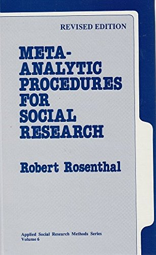 9780803942455: Meta-Analytic Procedures for Social Research (Applied Social Research Methods)