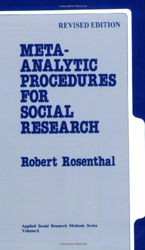 9780803942462: Meta-Analytic Procedures for Social Research (Applied Social Research Methods)