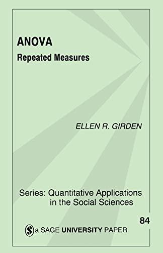 9780803942578: Anova: Repeated Measures (Quantitative Applications in the Social Sciences)