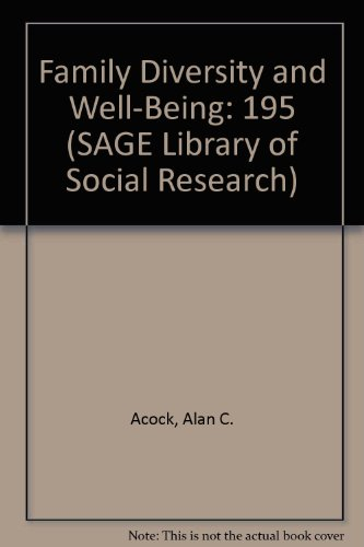 9780803942660: Family Diversity and Well-Being (SAGE Library of Social Research)