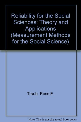 9780803943247: Reliability for the Social Sciences: Theory and Applications (Measurement Methods for the Social Science)