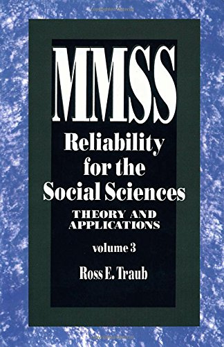 9780803943254: Reliability for the Social Sciences: Theory and Applications (Measurement Methods for the Social Science)