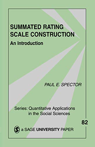 9780803943414: Summated Rating Scale Construction: An Introduction (Quantitative Applications in the Social Sciences)