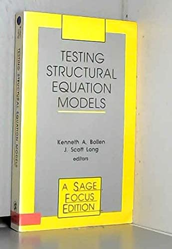 9780803945067: Testing Structural Equation Models (SAGE Focus Editions)