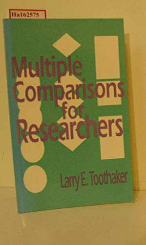 Multiple Comparisons for Researchers (0803946465) by Larry E. Toothaker
