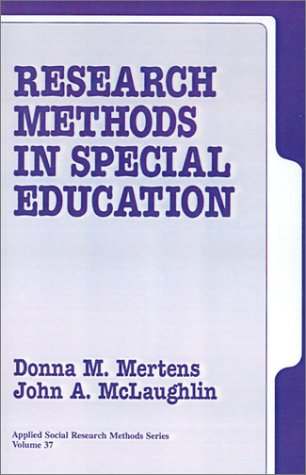 Research Methods in Special Education (Applied Social: Donna M. Mertens,