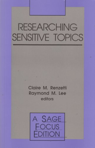 9780803948457: Researching Sensitive Topics (SAGE Focus Editions)