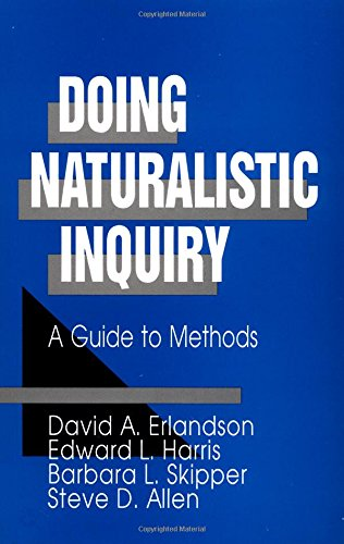 9780803949386: ERLANDSON: DOING NATURALISTIC INQUIRY (PAPER): A GUIDE TOMETHODS: A Guide to Methods