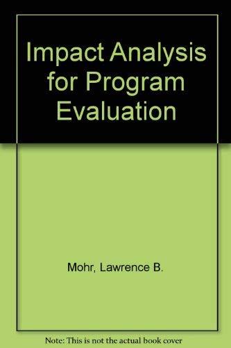 9780803949812: Impact Analysis for Program Evaluation