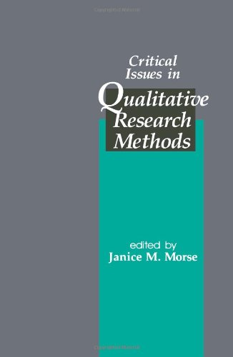 9780803950436: Critical Issues in Qualitative Research Methods