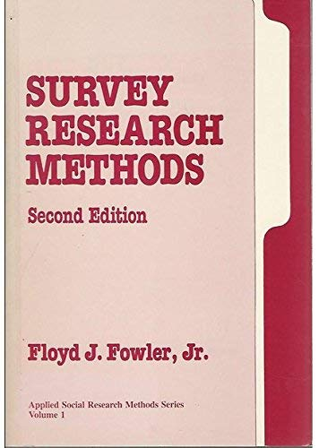 9780803950481: Survey Research Methods (Applied Social Research Methods Series I)
