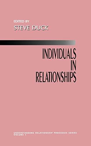9780803951563: Individuals in Relationships (Understanding Relationship Processes series)