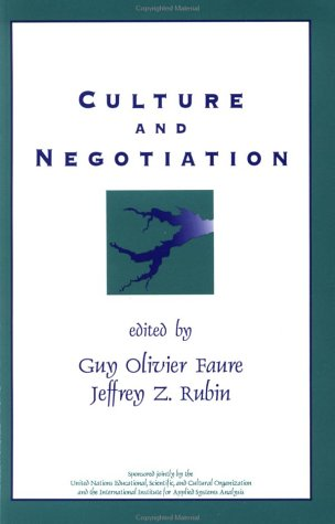 9780803953710: Culture and Negotiation: The Resolution of Water Disputes