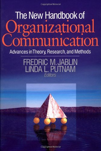 9780803955035: The New Handbook of Organizational Communication: Advances in Theory, Research, and Methods