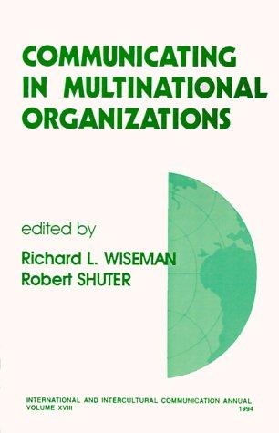 9780803955394: Communicating in Multinational Organizations