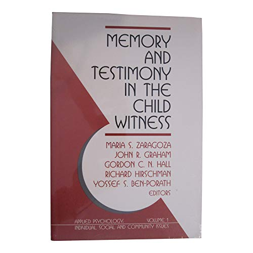 9780803955547: Memory and Testimony in the Child Witness (Multicultural Aspects of Counseling Series)