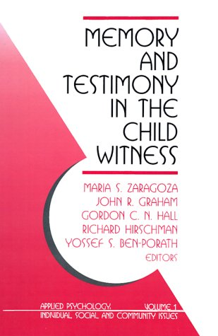 9780803955554: Memory and Testimony in the Child Witness (Applied Psychology (Paperback))
