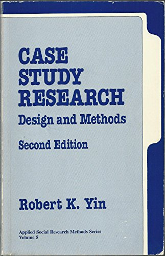 9780803956629: Case Study Research: Design and Methods (Applied Social Research Methods)