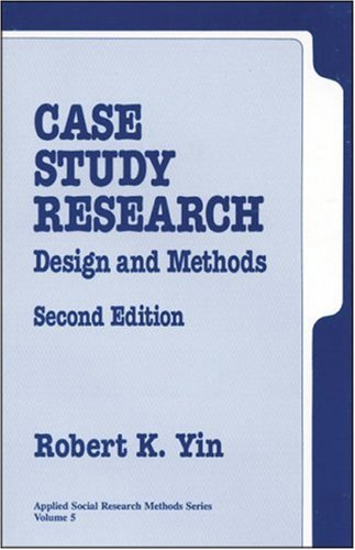 9780803956636: Case Study Research: Design and Methods (Applied Social Research Methods)