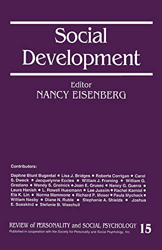 9780803956858: Social Development (The Review of Personality and Social Psychology)