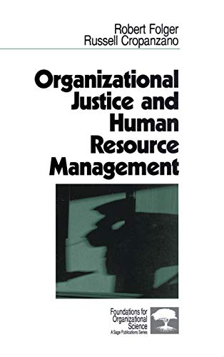 9780803956865: Organizational Justice and Human Resource Management (Foundations for Organizational Science)