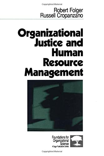 9780803956872: Organizational Justice and Human Resource Management (Foundations for Organizational Science)