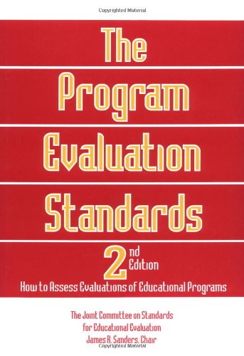 9780803957329: The Program Evaluation Standards: 2nd Edition How to Assess Evaluations of Educational Programs