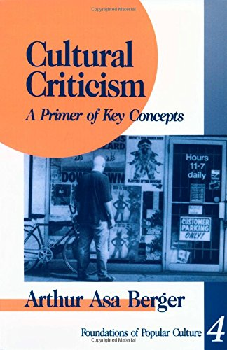 9780803957343: Cultural Criticism: A Primer of Key Concepts