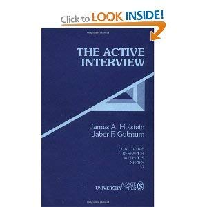 9780803958944: The Active Interview (Qualitative Research Methods)