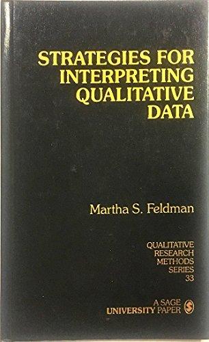 9780803959156: Strategies for Interpreting Qualitative Data (Qualitative Research Methods)