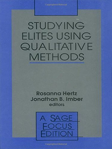 9780803970373: Studying Elites Using Qualitative Methods (SAGE Focus Editions)