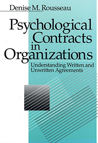 9780803971042: Psychological Contracts in Organizations: Understanding Written and Unwritten Agreements