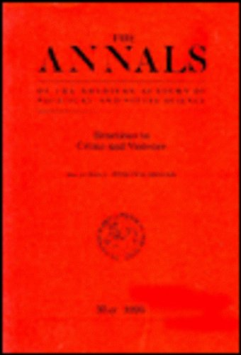 9780803971233: Reactions to Crime and Violence (The ANNALS of the American Academy of Political and Social Science Series)