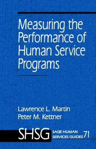 Measuring the Performance of Human Service Programs (SHSG-Sage Human Services Guide, 71)