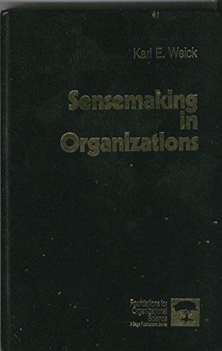 9780803971769: Sensemaking in Organizations (Foundations for Organizational Science)