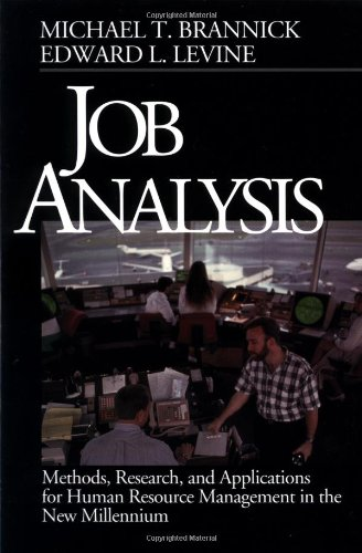 Job Analysis: Methods, Research, and Applications for: Michael T. Brannick,