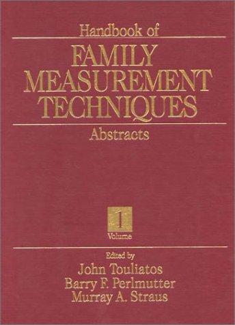 Handbook of Family Measurement Techniques (3 Volume Set)