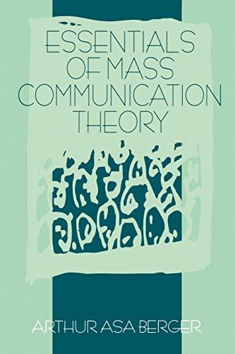 9780803973572: Essentials of Mass Communication Theory