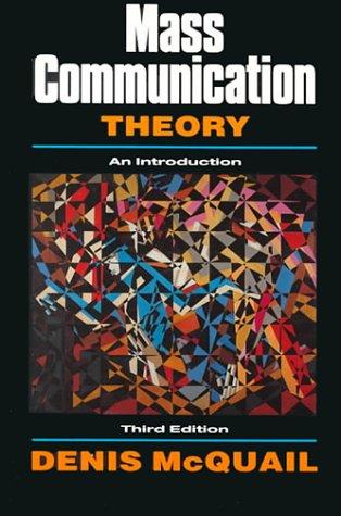 9780803977853: Mass Communication Theory An Introduction