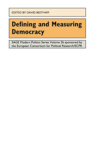 9780803977891: Defining and Measuring Democracy