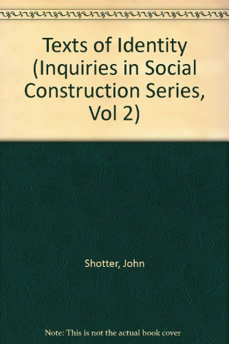 9780803981720: Texts of Identity (Inquiries in Social Construction)