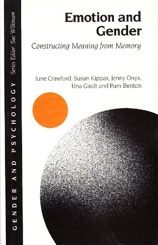 9780803983106: Emotion and Gender: Constructing Meaning from Memory (Gender and Psychology)