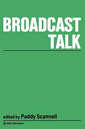 9780803983755: Broadcast Talk (Gender and Psychology)