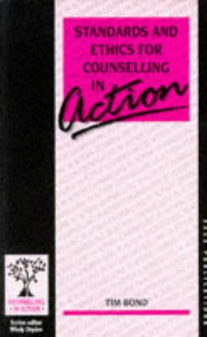 9780803986466: Standards and Ethics for Counselling in Action (Counselling in Action series)