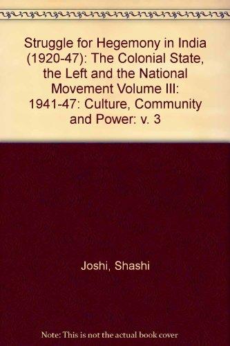 Struggle for Hegemony in India (1920-47): The: Shashi Joshi; Bhagwan
