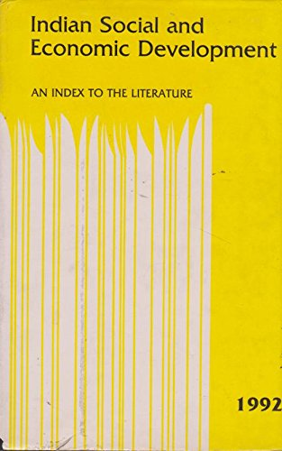 9780803994614: Indian Social and Economic Development 1992: An Index to the Literature