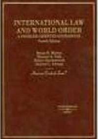 9780803994713: International Law and World Order: A Critique of Contemporary Approaches