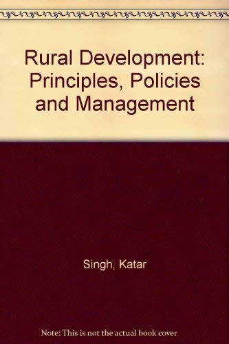 9780803995147: Rural Development: Principles, Policies and Management