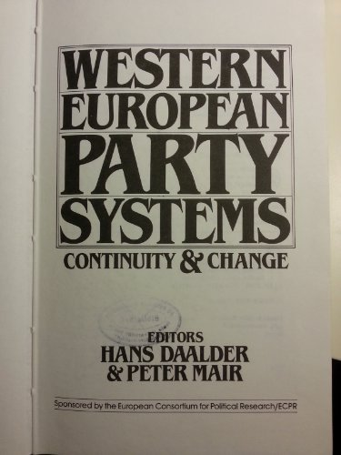 9780803997691: Western European Party Systems: Continuity and Change